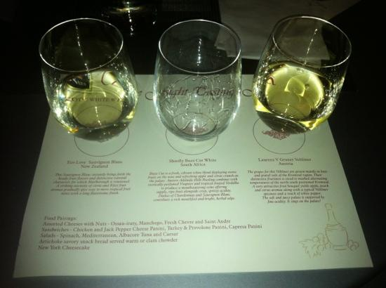 CC Gallagher : Exotic white wine flight.