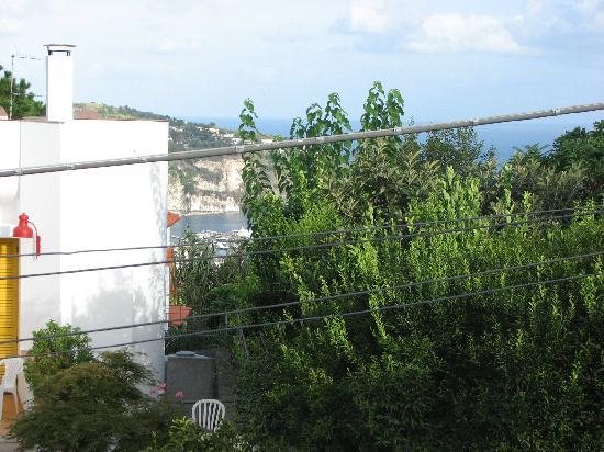 Villa Erade: View from the balcony to the sea