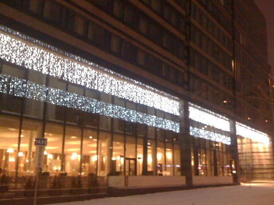 Clarion Hotel Sign: Hotel Exterior Christmas