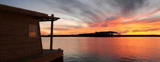 Jose Ignacio, Uruguay: atardecer sobre la Laguna