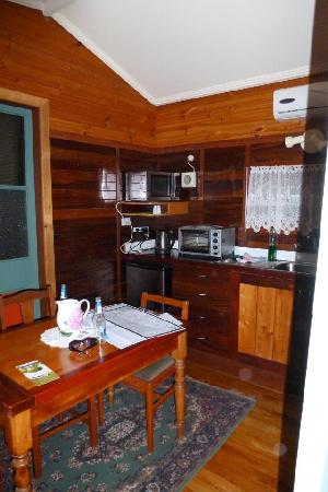 Bridgefield Guest House: Kitchenette in the Cabin