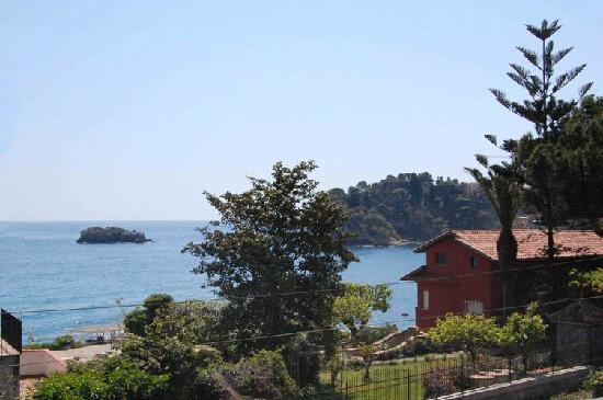 Villa Carmelas: veduta dal balcone