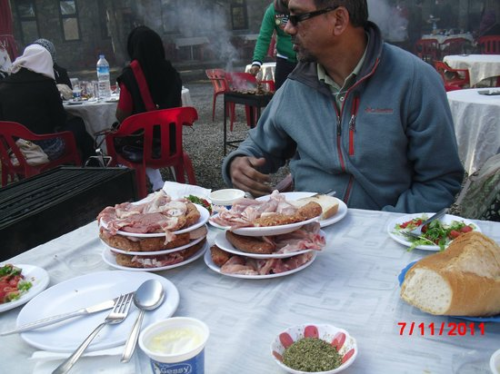 Uludag Ski Center : Meat given to us for barbequeing