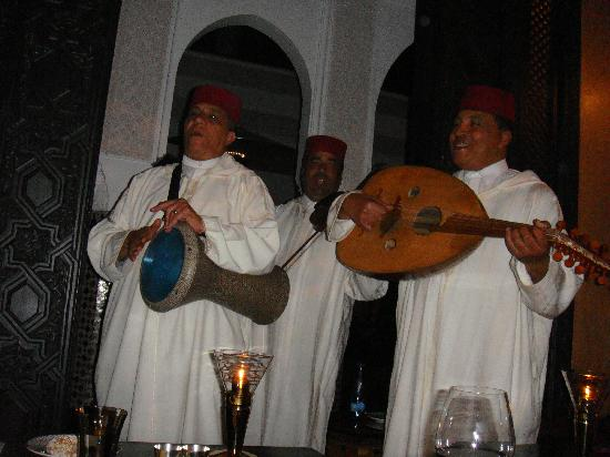 La Mamounia Marrakech: Musicians to entertain you whilst you dine..