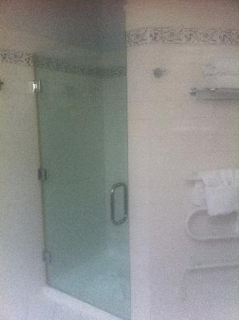 The County Hotel Napier: Separate shower and towel heater