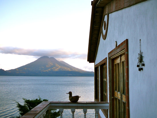 Jaibalito, Guatemala: Terrace view from room 15--spectacular vista, but hospitality is lacking. . .