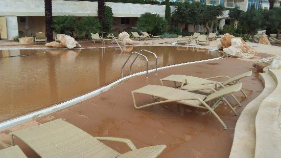 Flood Damaged Swimming Pool : Outdoor pool area after the flooding picture of radisson