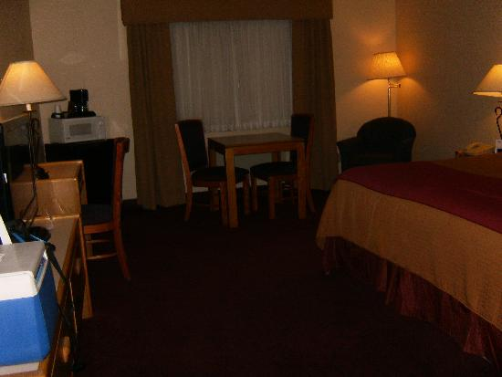 Quality Inn & Suites: room (sorry it's so dark)