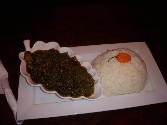 Kilimanjaro Restaurant: spinach sauce