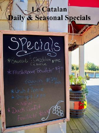 Le Catalan: Inquire about our Daily & Seasonal Specials