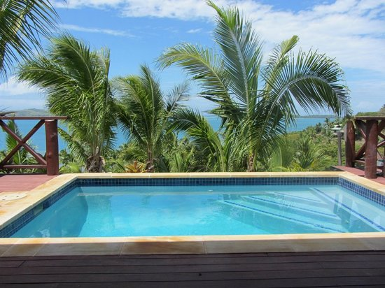 Wananavu Beach Resort: Honeymoon Bure Private Pool