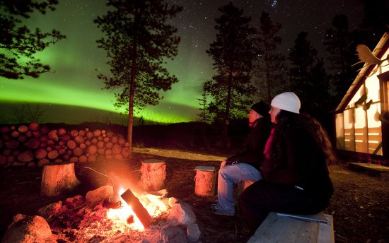Aurora Borealis & Northern Lights Tours Yukon: Comfortable Northern Lights Viewing