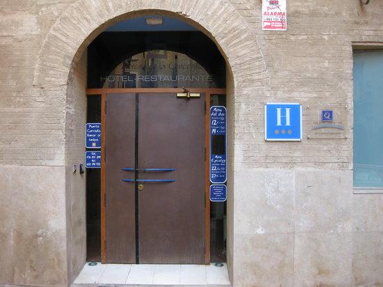 Tarazona, España: Portal Del Restaurante-Hotel