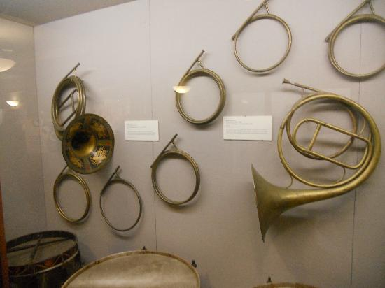 Symphony Hall: old French horns on display
