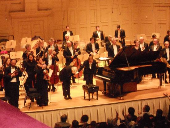 Symphony Hall: Richard Goode takes a bow