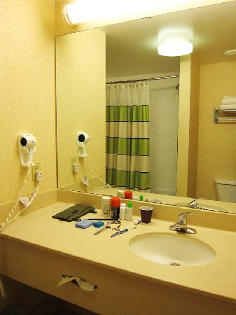 Fairfield Inn Lexington Park Patuxent River Naval Air Station: Bath room was fine,  good shower head, clean, fully functional.