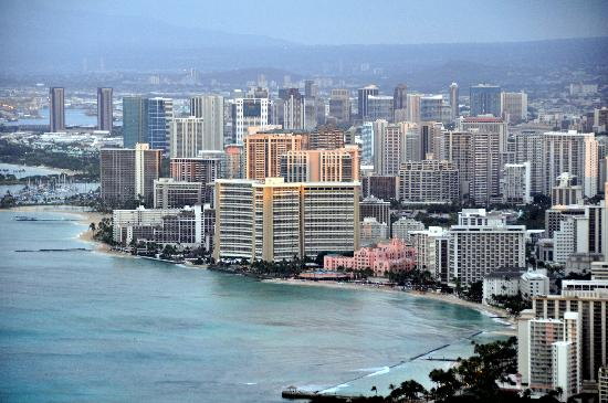 "The Royal Hawaiian, A Luxury Collection Resort: Royal Hawaiian - ""Pink Palace"" view from the Diamond Head"