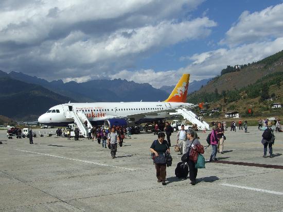 Nepal Hiking : Paro Airport, Bhutan