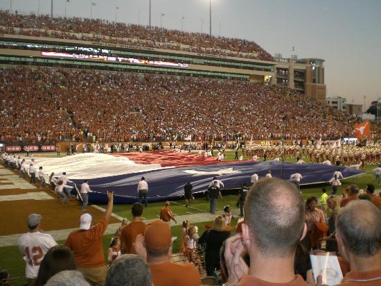 Darrell K Royal-Texas Memorial Stadium: Huge Texas Flag