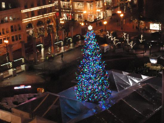 Portland Christmas Tree.Christmas Tree Outside The Nines In Pioneer Square Picture
