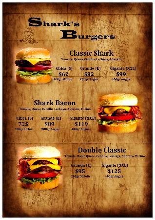 Shark Burgers: las hamburguesas
