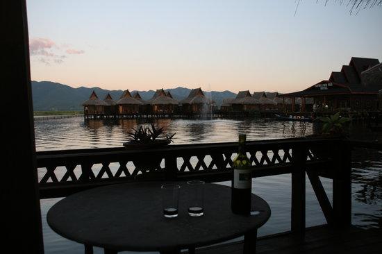 Shwe Inn Tha Floating Resort: our balcony