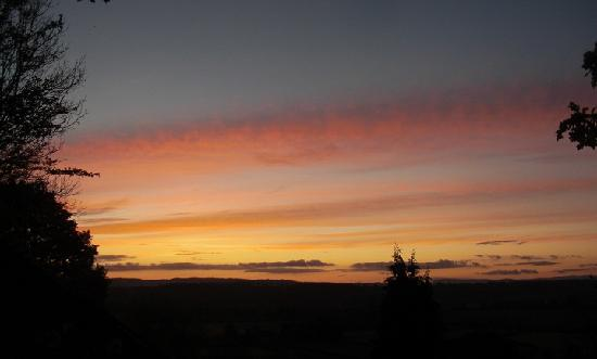 Green Whale Tump B & B: Sunset from green Whale Tump