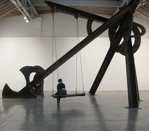 The Two Percent Gallery Tours: Tour group with Mark Di Suvero sculpture