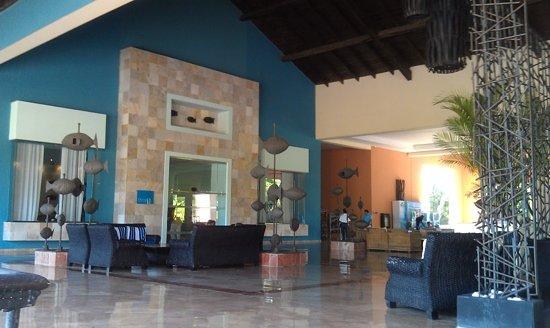 Ocean Blue & Sand: check in area main entrance