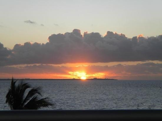 Excellence Playa Mujeres: sun rise from our rooftop terrace