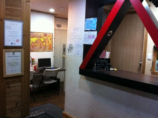 Seoul Backpackers: Reception