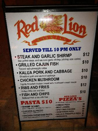 Red Lion Bar & Grill: The Sign