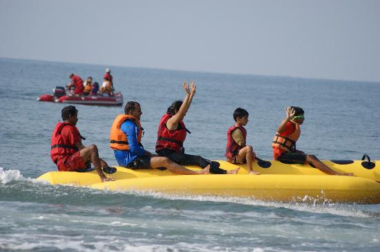 Sai Vishram Byndoor: The banana boat ride.. and many other such water sports await you at Sai vishram