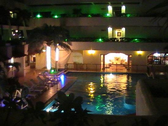 Flamingo Cancun Resort: flamingo at night