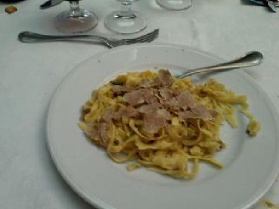 Citta della Pieve, Włochy: Tagliatelle al tartufo