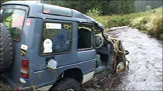 Calafate Fishing: The transport vehicle after ´the boys of calfate fishing´ had a few beers