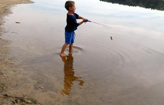Calafate Fishing: The type of fishing pole they expected the children to use!