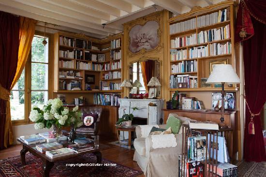 Un des salons de La Pluie de Roses à Giverny