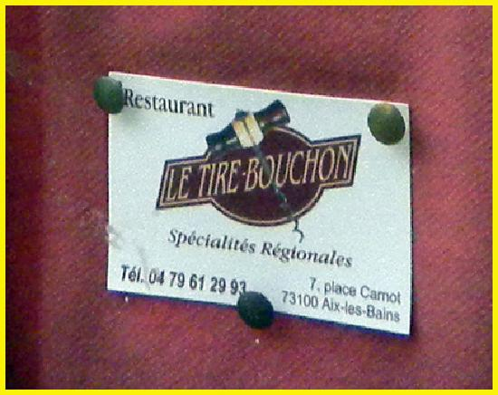Le Tire bouchon: The Cork screw