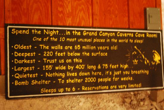 bedroom rules. grand canyon caverns tours the underground bedroom rules