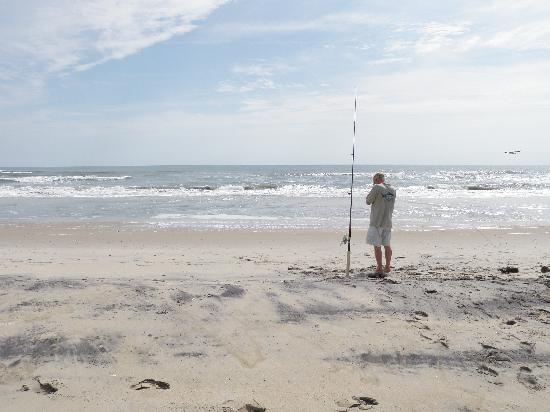 Assateague Beach: Fishing on beach