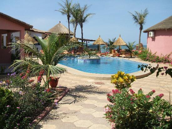 Nianing, Senegal: La vue de notre chambre...