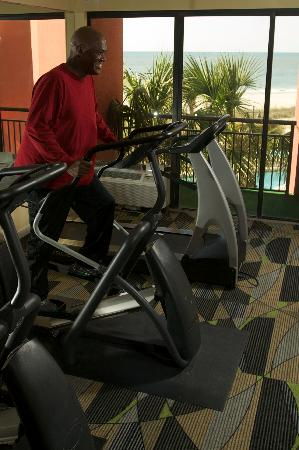 The Patricia Grand, Oceana Resorts: Guests enjoy the oceanfront fitness center to stay fit while traveling!