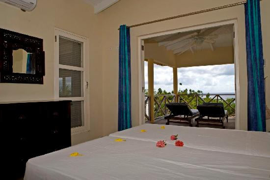 Bedroom of Cottage Deluxe at Caribbean Club Bonaire