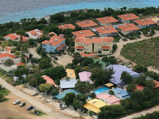 Caribbean Club Bonaire Aerial View