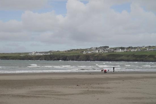 St. Dogmaels, UK: Poppit Sands on a windy day