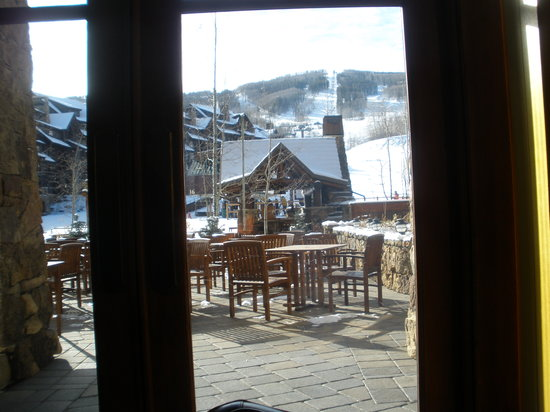 The Ritz-Carlton, Bachelor Gulch: View from Spago breakfast table.
