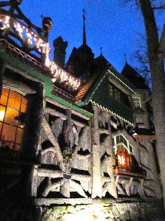 Das Hexenhaus im Abendlicht