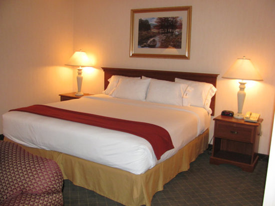 Holiday Inn Express & Suites Ex I-71/ Oh. State Fair/Expo Center: looks comfortable - but paint fumes filled the air