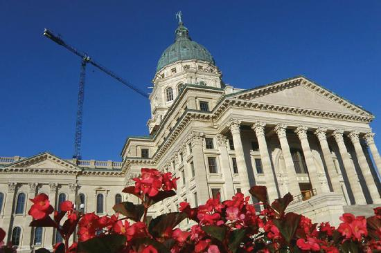 Topeka, KS: Extensive renovations has improved the look and safety of the Kansas Statehouse